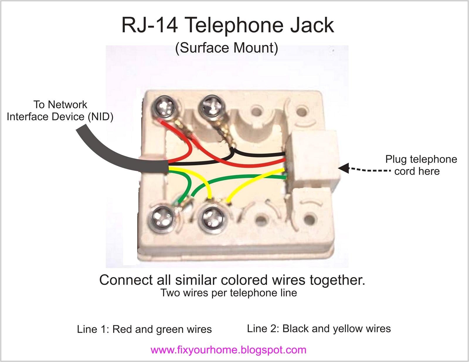 Phone Jack Wiring Diagram - Wiring Solution 2018 - Phone Jack Wiring Diagram