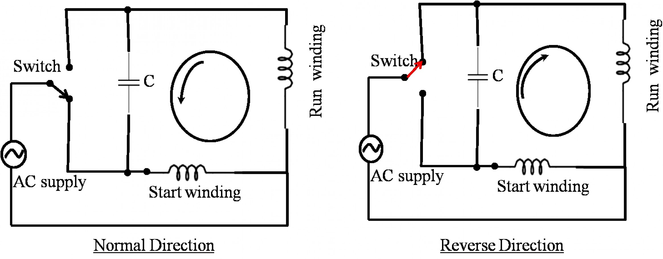 Pictures Single Phase 220V Wiring Diagram Compressor Simple - Ac Motor Reversing Switch Wiring Diagram