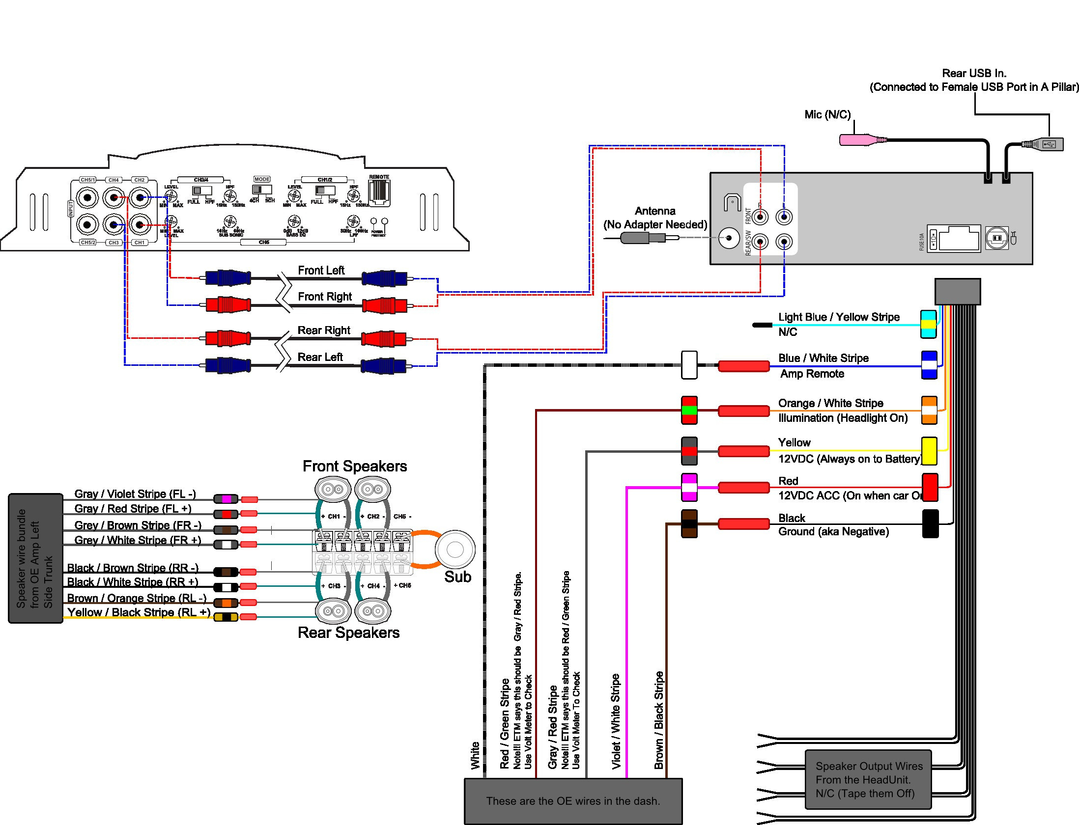 Pioneer Deh-1100mp Car Stereo Wiring Diagram - Database