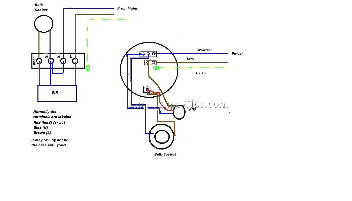 Pir Wall Switch Wiring Diagram | Wiring Diagram - Wiring A Motion Sensor Light Diagram