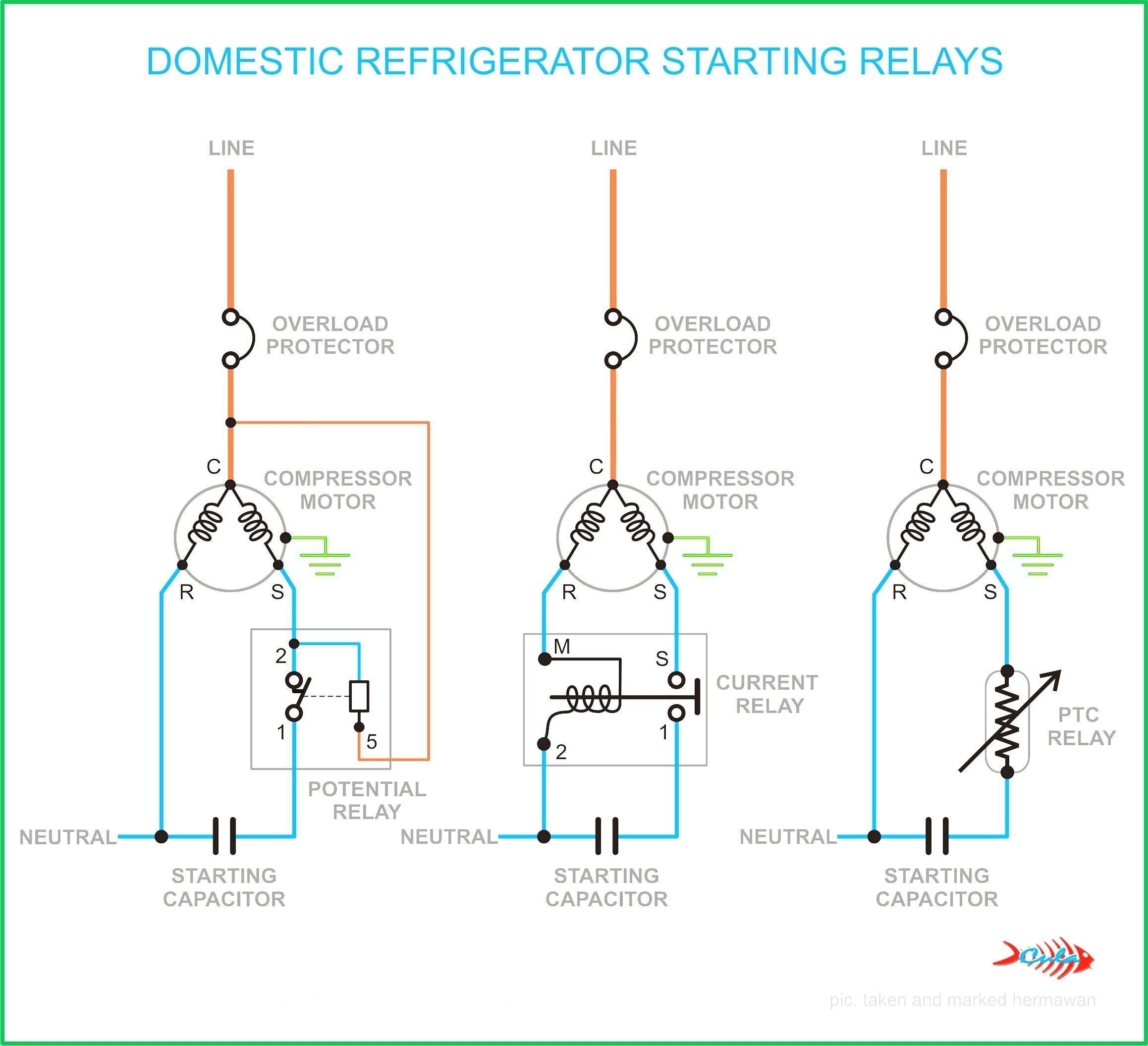 Compressor Start Capacitor Wiring Diagram Diagrams Manual Guide