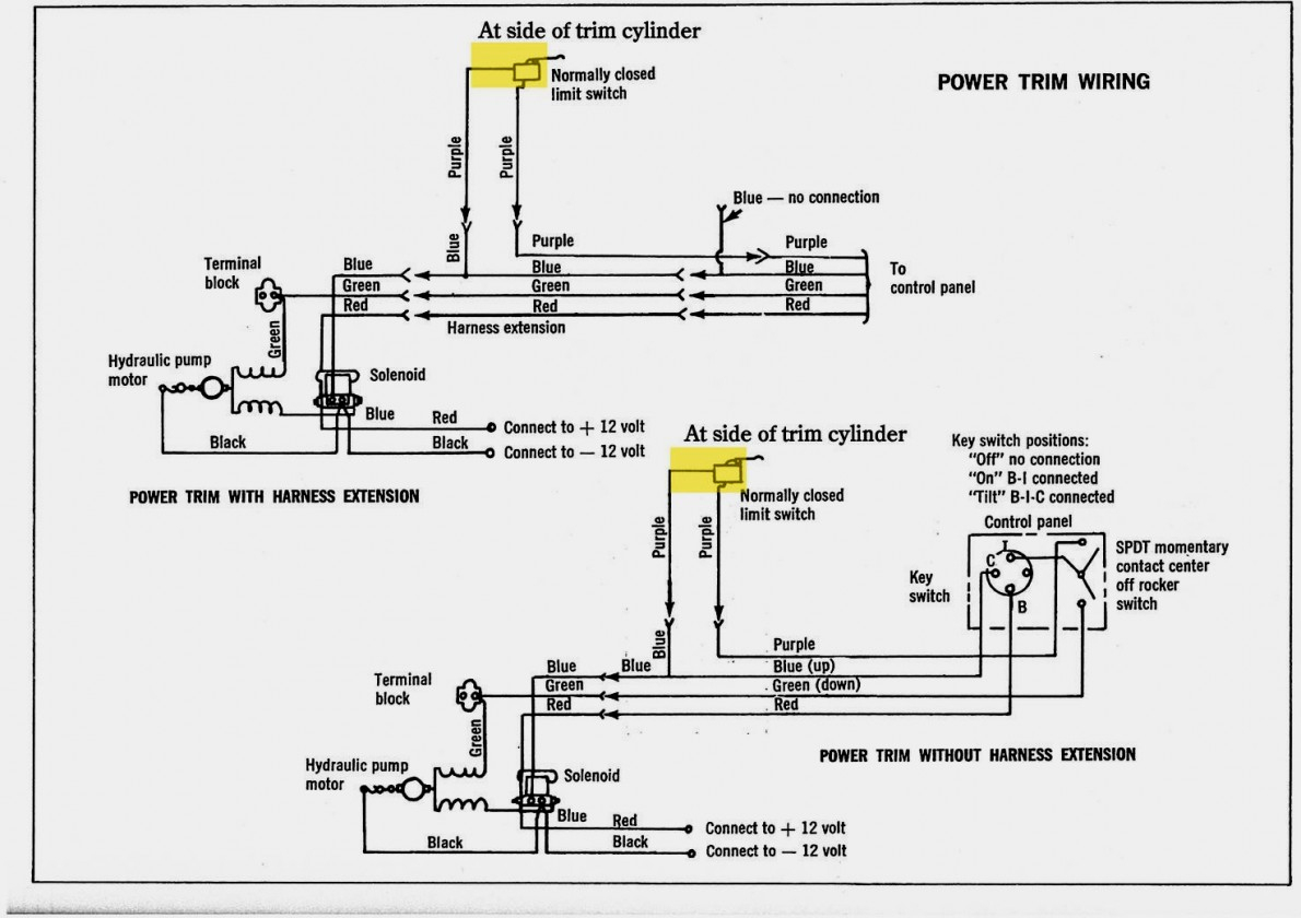 Power Tilt And Trim Wiring - Wiring Diagram Schematic Name - Mercruiser Trim Sender Wiring Diagram