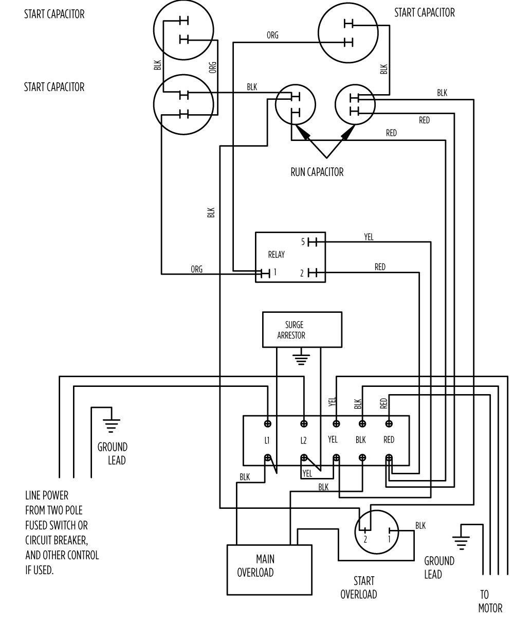 Primary Single Phase Capacitor Wiring Diagram | Wiring Library - Electric Motor Capacitor Wiring Diagram