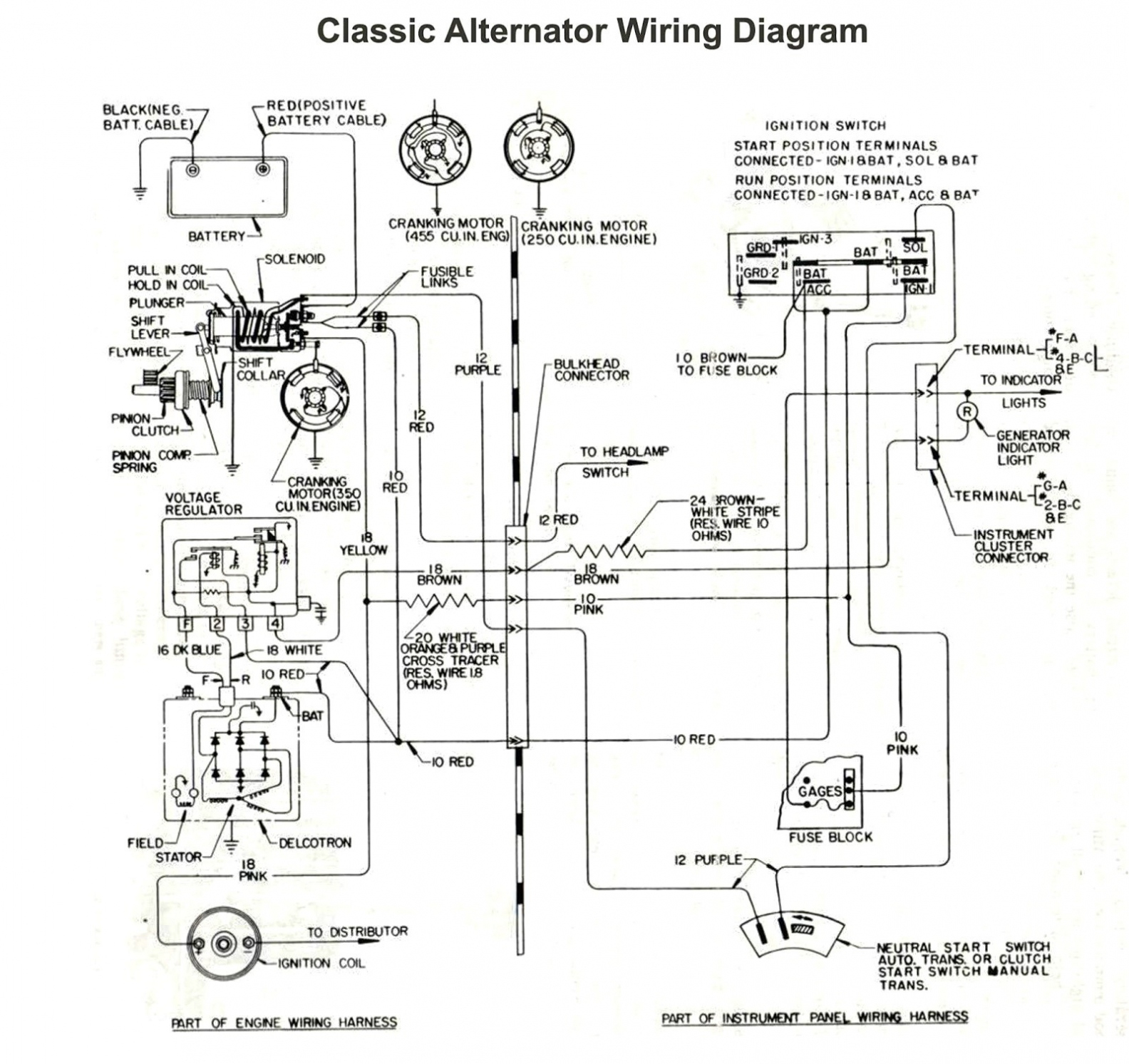 Print Wiring Diagram For Internally Regulated Alternator – Gm - Gm Alternator Wiring Diagram Internal Regulator