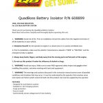 Quadboss Battery Isolator P/n 608899   Battery Isolator Wiring Diagram