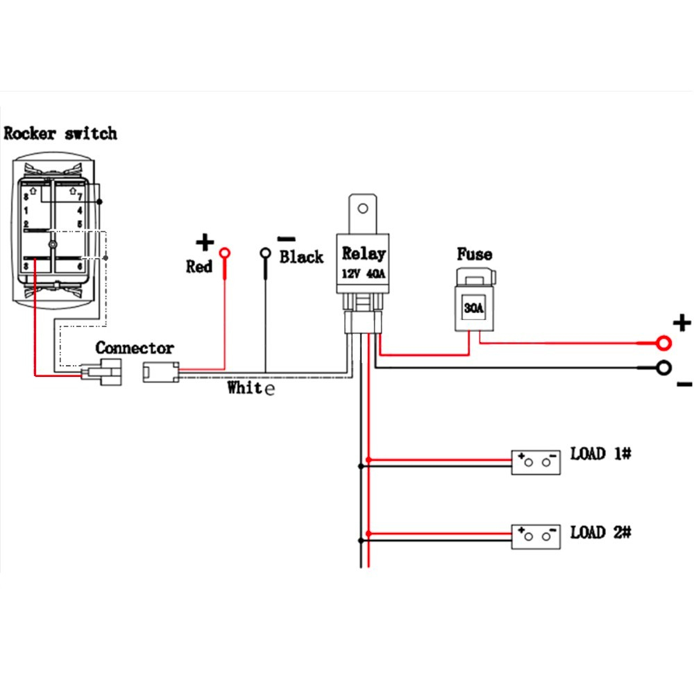 Quality Assurance Momentary Carling Lighted 5 Terminals 5 Pin Rocker - 5 Pin Rocker Switch Wiring Diagram