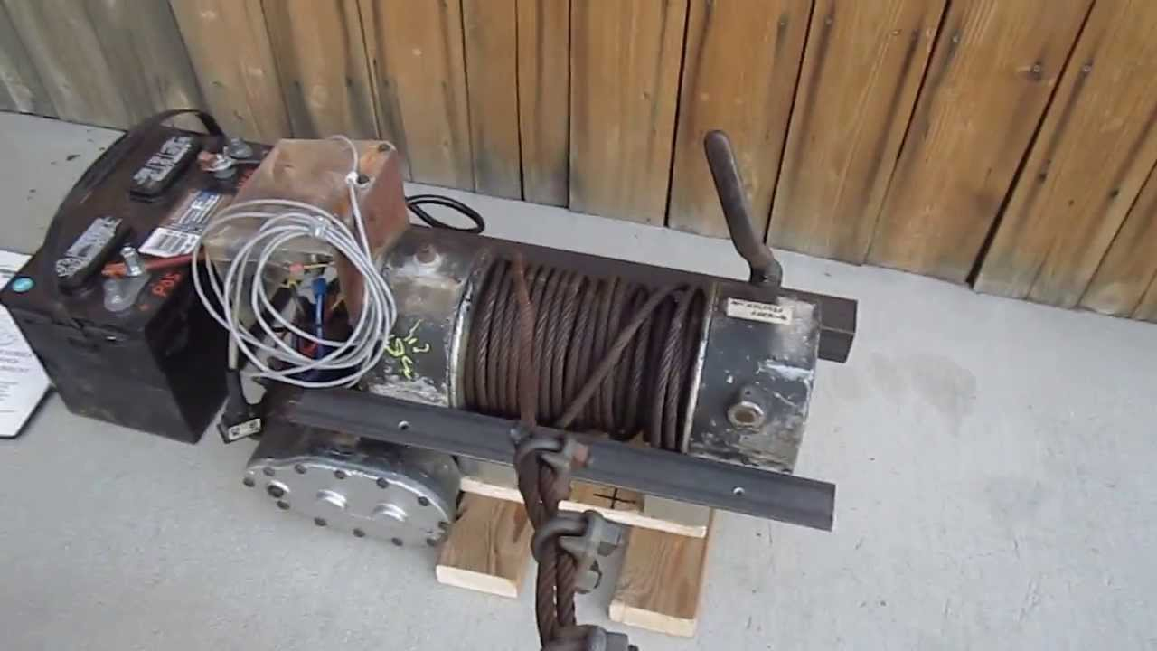 Ramsey Dc-200 8000-Lb Winch 12-Vdc In Operation - Youtube - Ramsey Winch Wiring Diagram