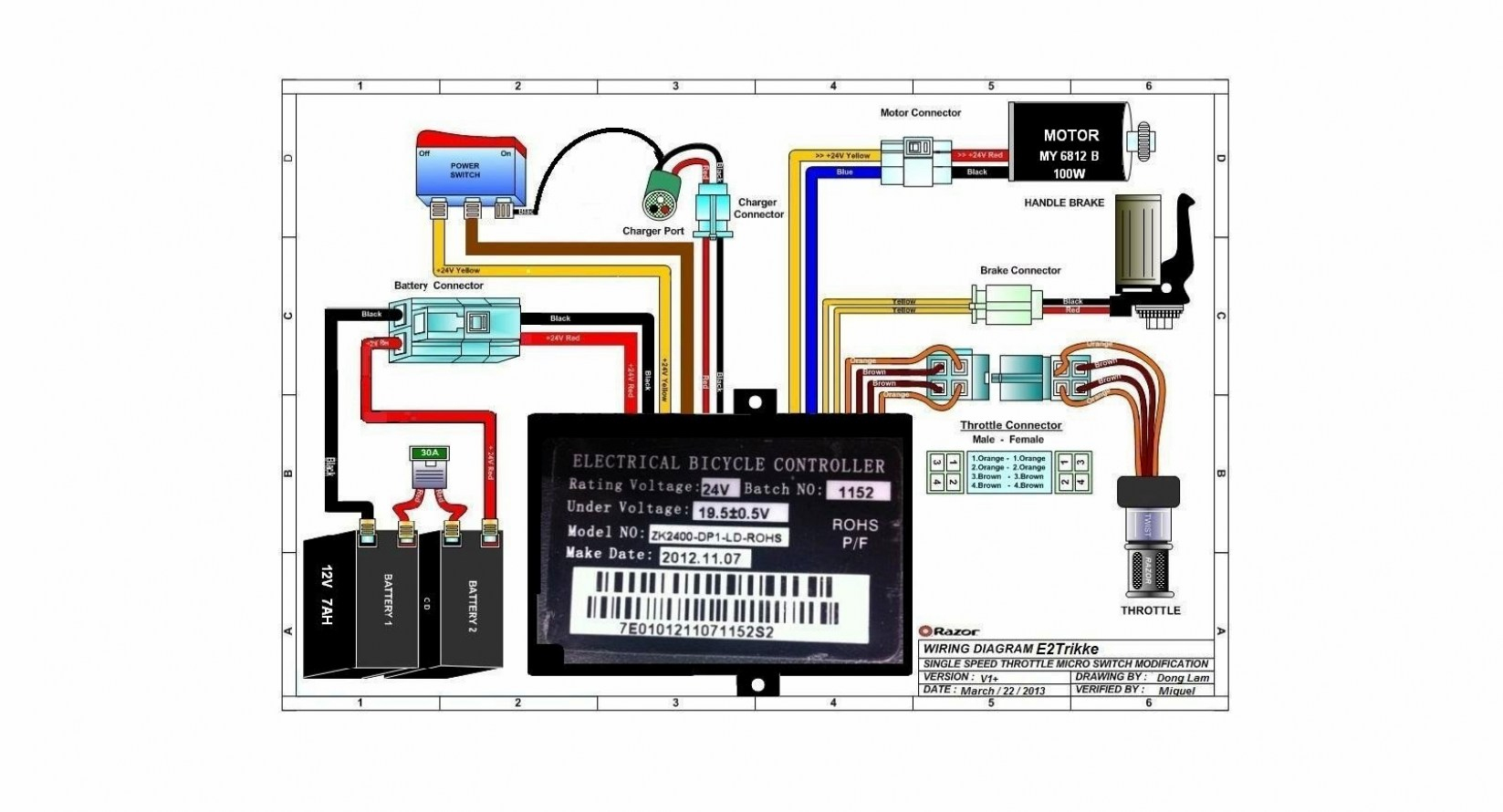 Razor E300 Wiring Diagram - Wiring Diagram And Schematics - Razor E300 Wiring Diagram