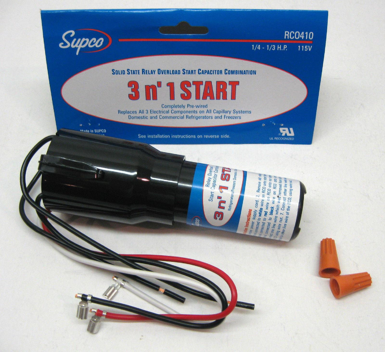Rc0410 Supco Refrigerator Relay Overload Start Run Capacitor 1/4 1/3 - Start Run Capacitor Wiring Diagram