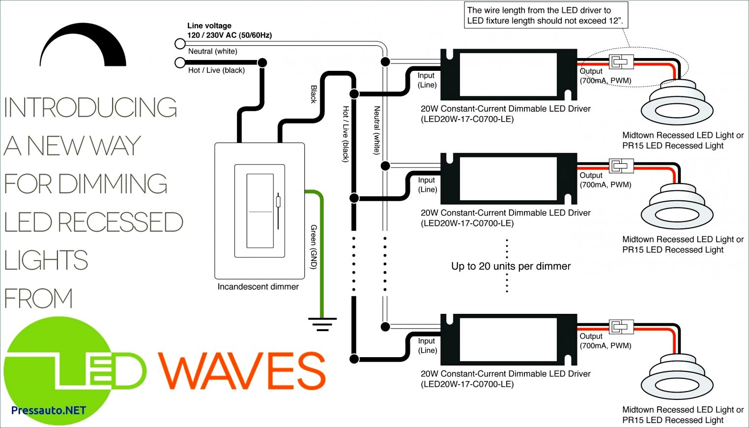 Recessed Can Light Wiring Diagram | Manual E-Books - Recessed Lighting Wiring Diagram