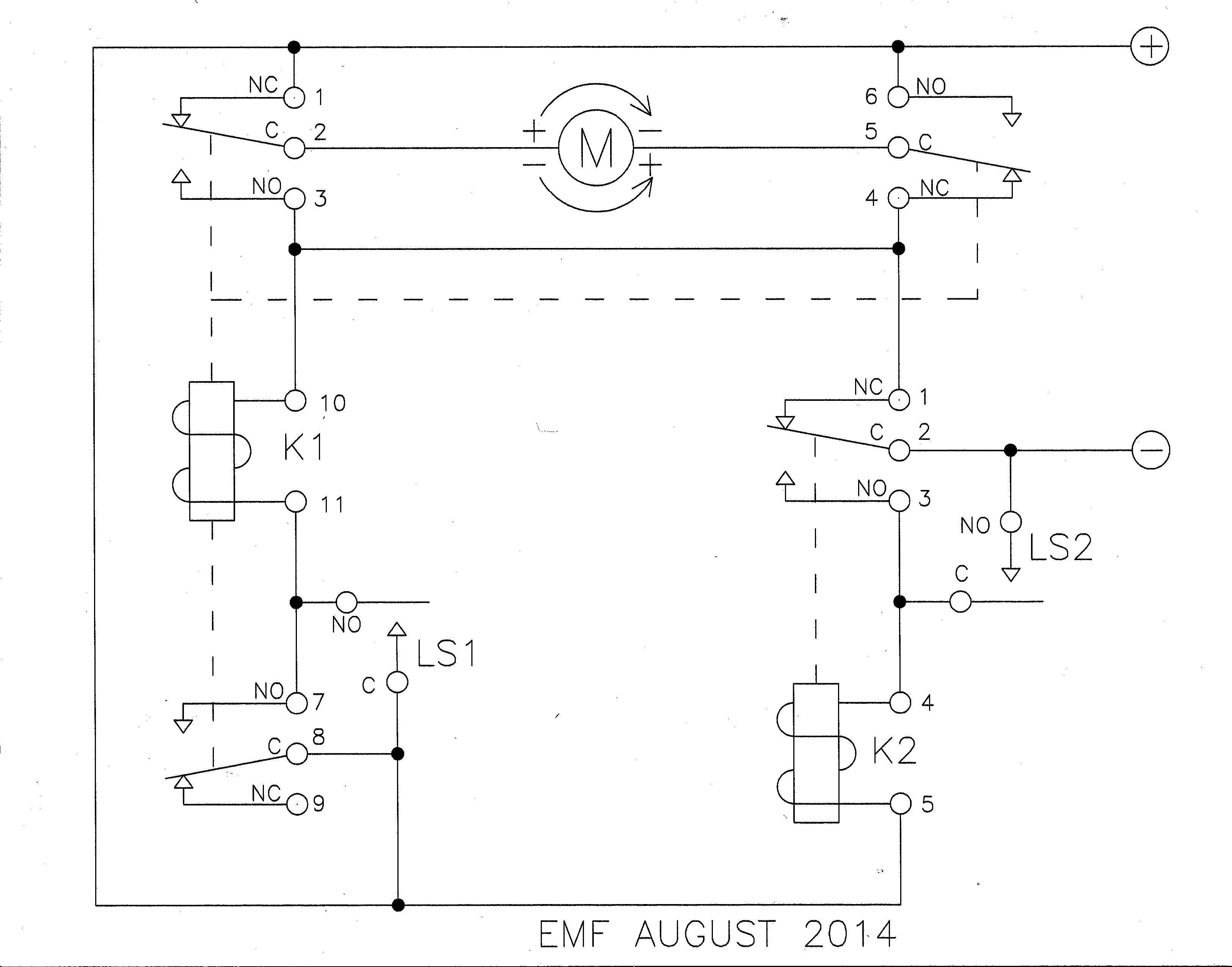 Relay - Limit Switches To Control Motor Direction - Electrical - 12 Volt Relay Wiring Diagram