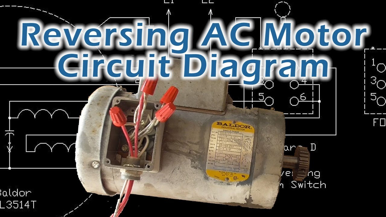 Reverse Baldor Single Phase Ac Motor Circuit Diagram - Youtube - Reversing Single Phase Motor Wiring Diagram