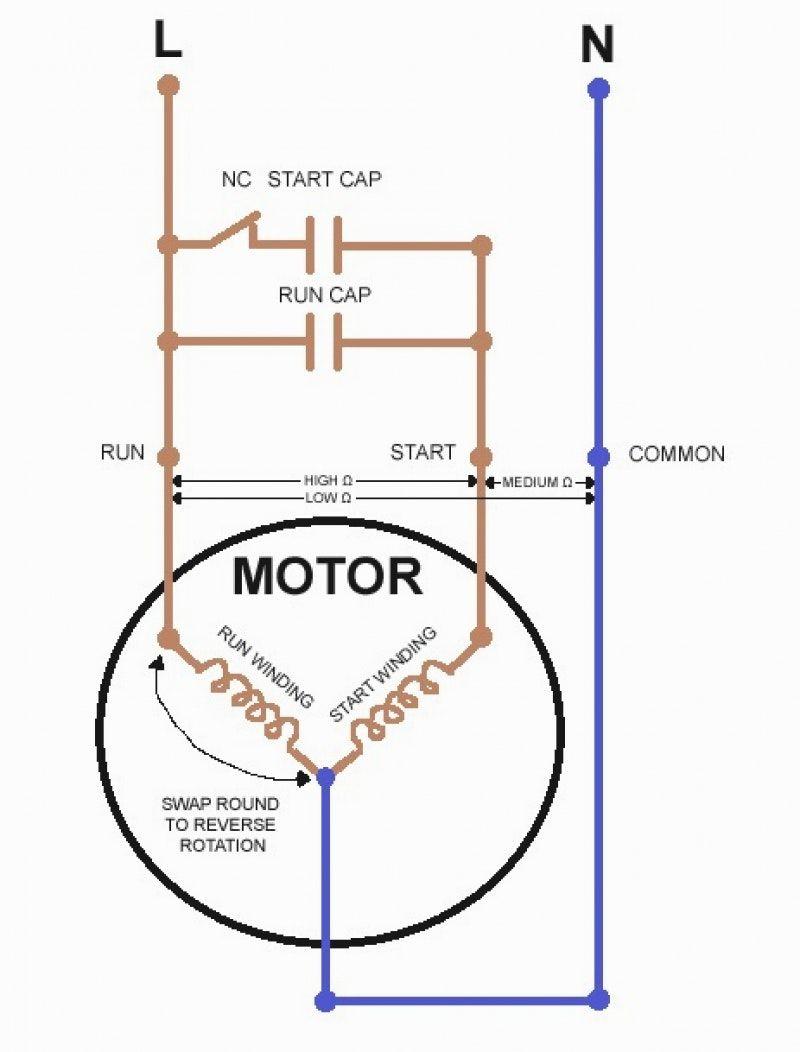 Reverse Single Phase Motor Wiring Diagram | Manual E-Books - Wiring Diagram For 230V Single Phase Motor