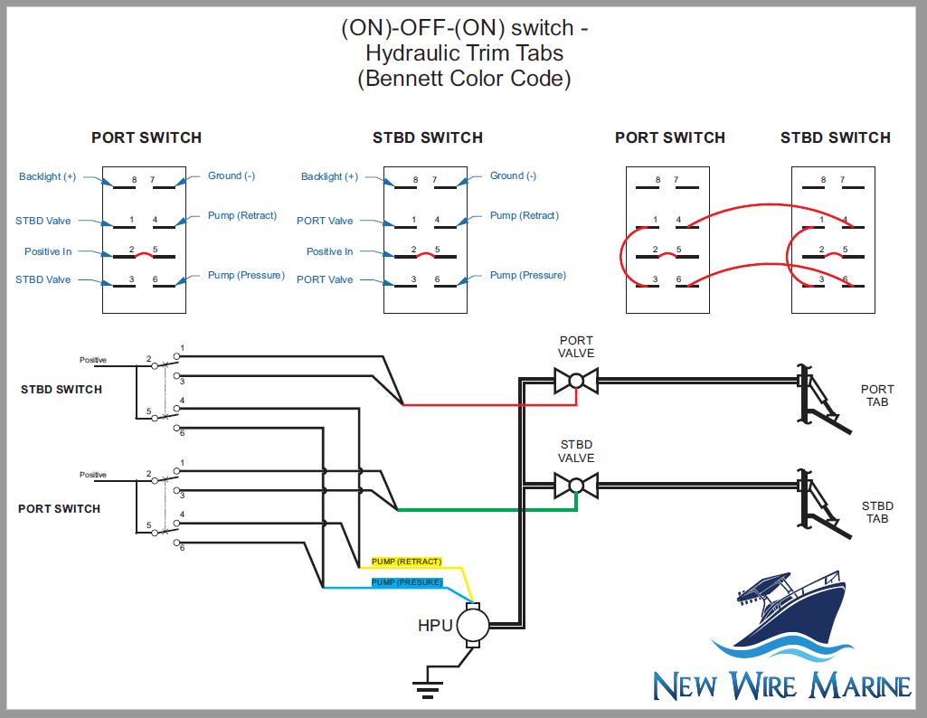 Rocker Switch Wiring Diagrams | New Wire Marine - Carling Switch Wiring Diagram