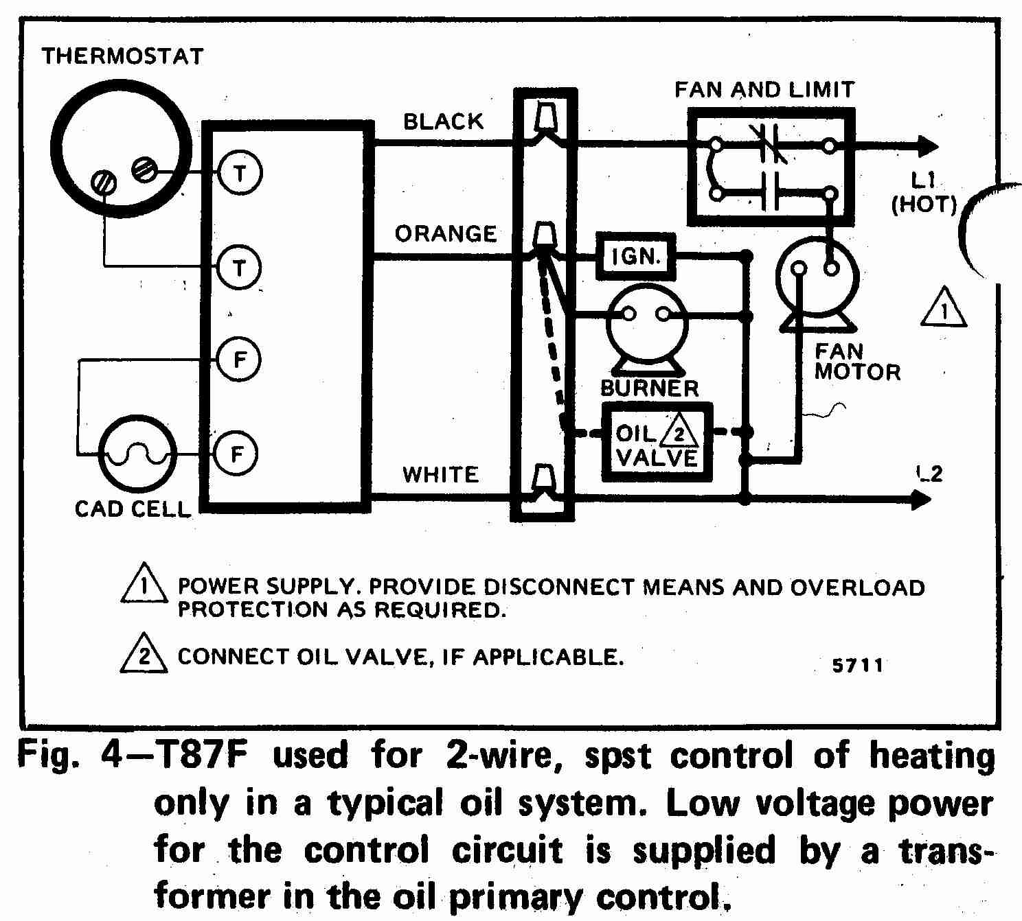 Room Thermostat Wiring Diagrams For Hvac Systems - Honeywell Wiring Diagram