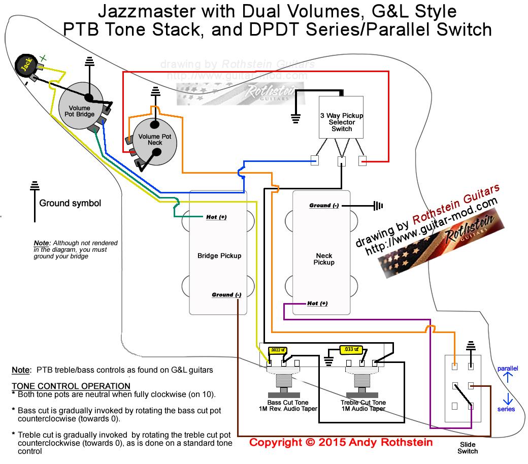 Rothstein Guitars • Jazzmaster Wiring Series/parallel - Series Wiring Diagram