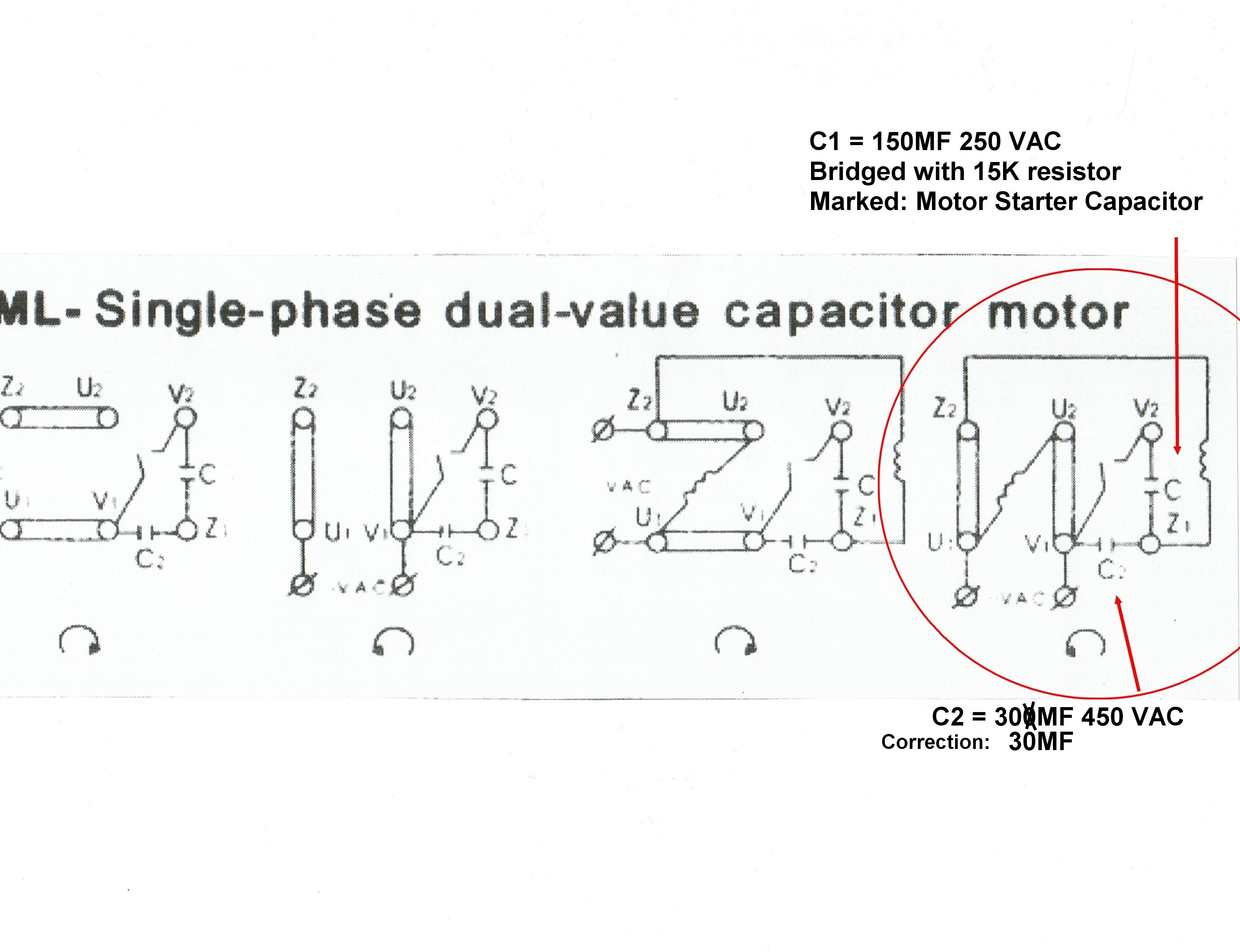 Motor Capacitor Wiring Diagram
