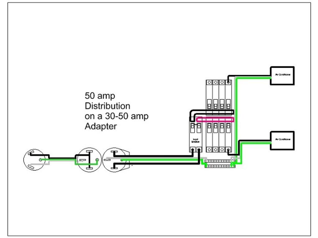 Rv 30 Amp To 50 Amp Wiring Diagram   Manual E-Books - 30 Amp Rv Plug Wiring Diagram