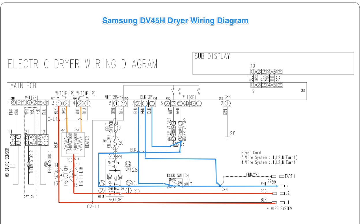 Samsung Dv42H Dryer Wiring Diagram - The Appliantology Gallery - Samsung Dryer Wiring Diagram