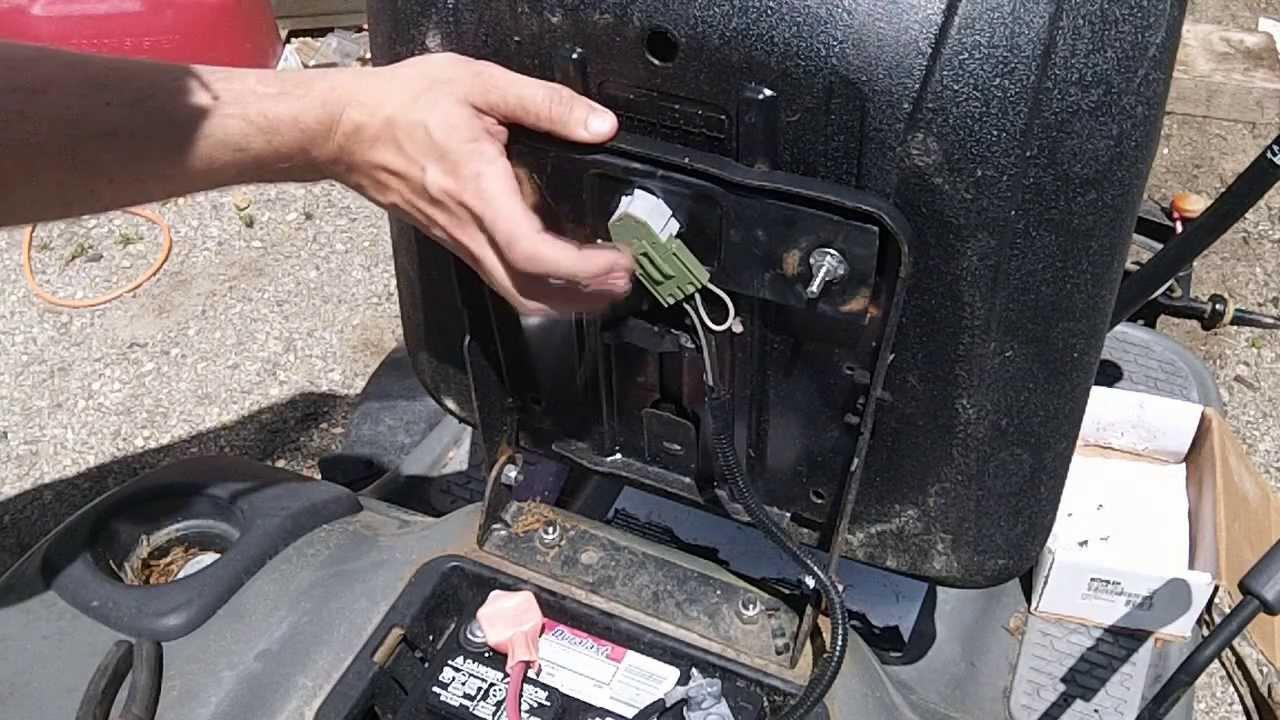 Seat Safety Craftsman Disablement - Youtube - Craftsman Lt2000 Wiring Diagram