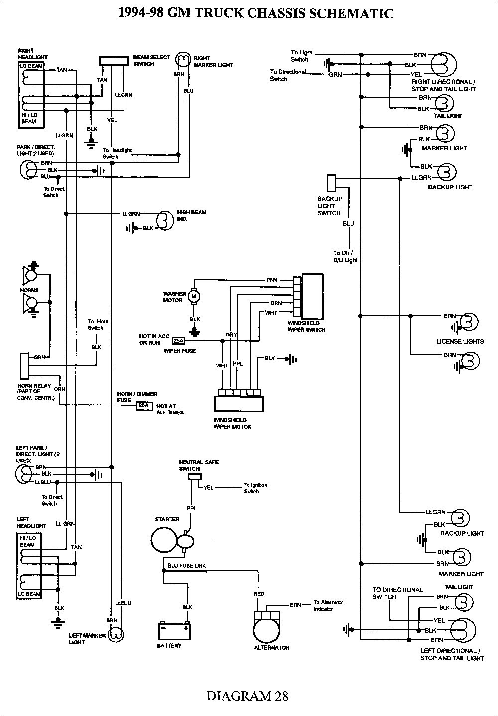 Semi Truck Light Diagram - Schema Wiring Diagram - Semi Trailer Wiring Diagram
