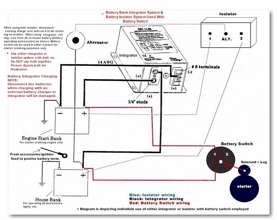 Ship Shape Ii Boat Battery Switch Isolators Integrators Systems - Marine Battery Switch Wiring Diagram