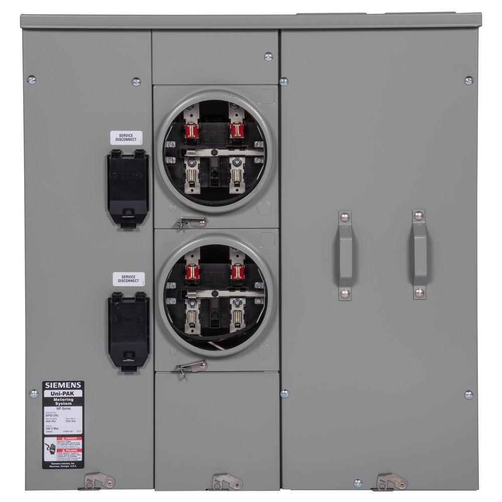 Siemens Uni-Pak 2-Gang 225 Amp Tenant Main Breaker Meter Socket - 200 Amp Meter Base Wiring Diagram