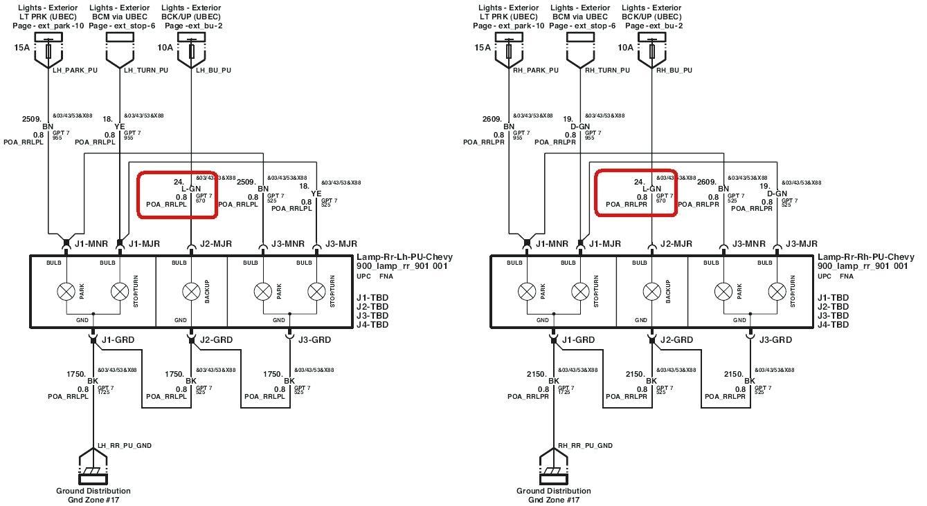 Silverado Tail Light Wiring Harness - Wiring Diagram - Tail Light Wiring Diagram Chevy