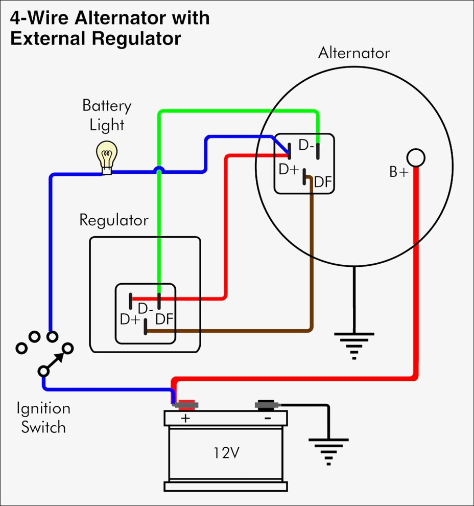 Simple Alternator Wiring Diagram Diagrams Car Delco And 18 4 - Simple Alternator Wiring Diagram
