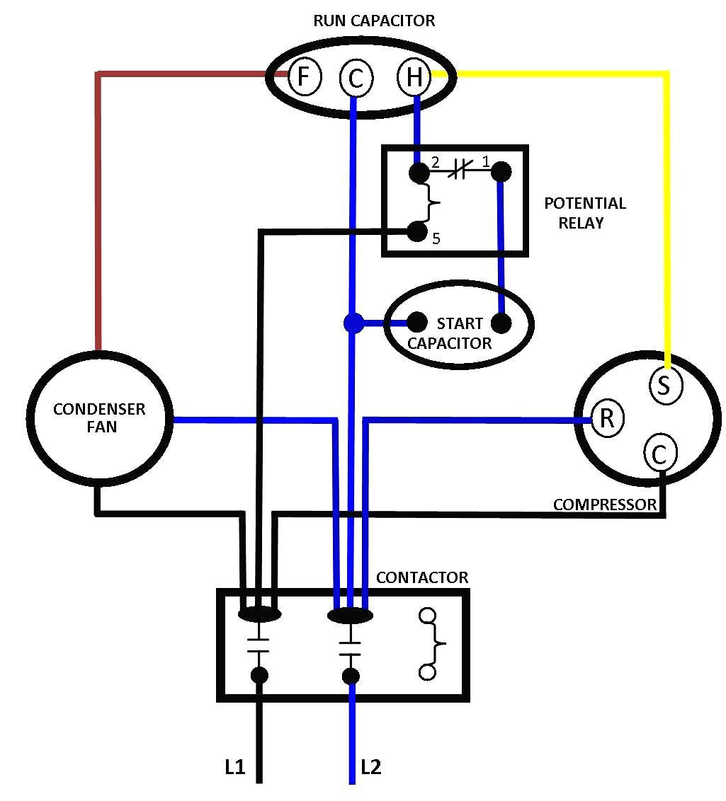 Compressor Wiring Diagram Single Phase | Wiring Diagram