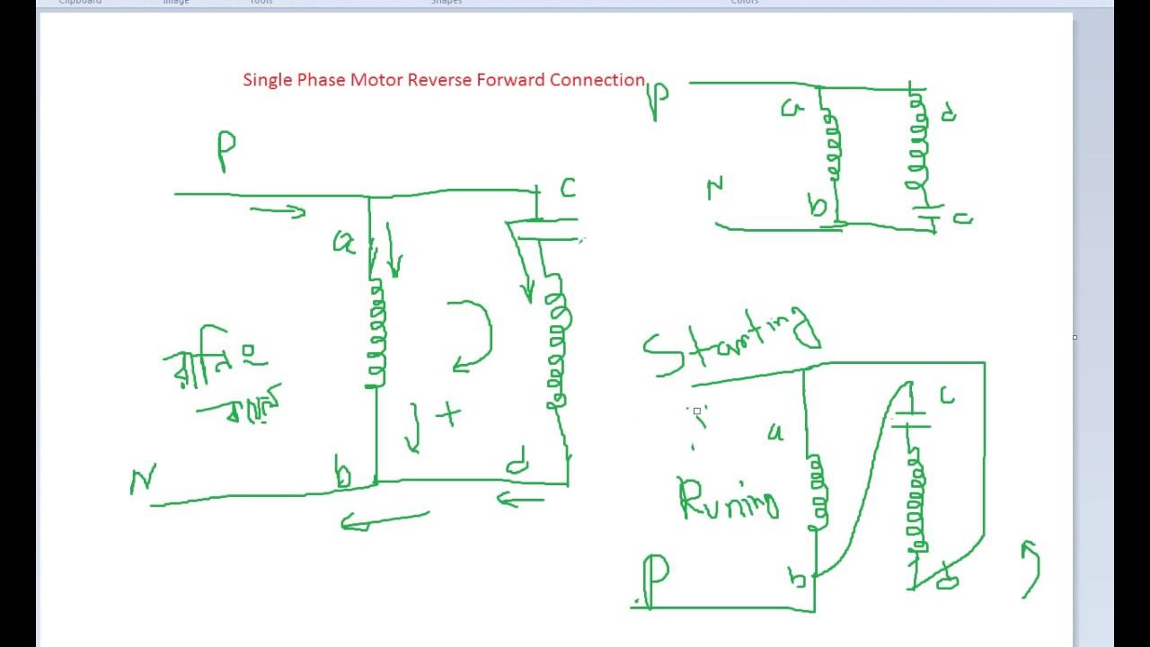 Single Phase Motor Forward Reverse Wiring Diagram | Wiring Diagram - Single Phase Motor Wiring Diagram Forward Reverse