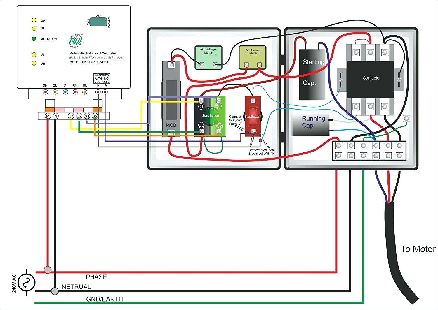 Single Phase Submersible Pump Starter Wiring Diagram 3 Wire Well - 3 Wire Well Pump Wiring Diagram