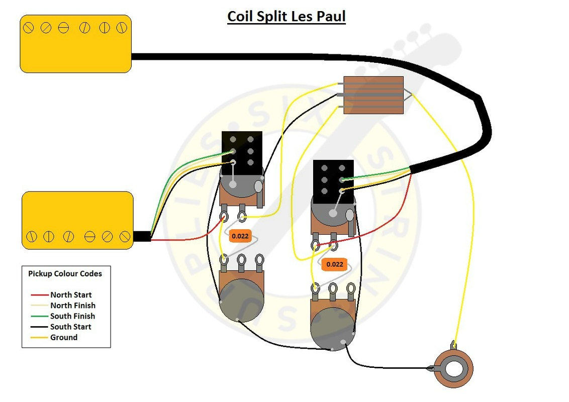 Six String Supplies — Coil Split Les Paul Wiring - Split Coil Humbucker Wiring Diagram