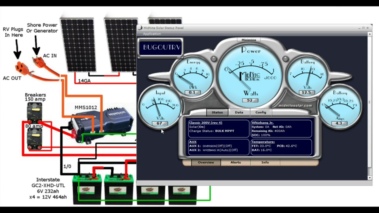 Solar Wiring For Rv + Costs For A 1 Kw System - Youtube - Rv Solar Wiring Diagram