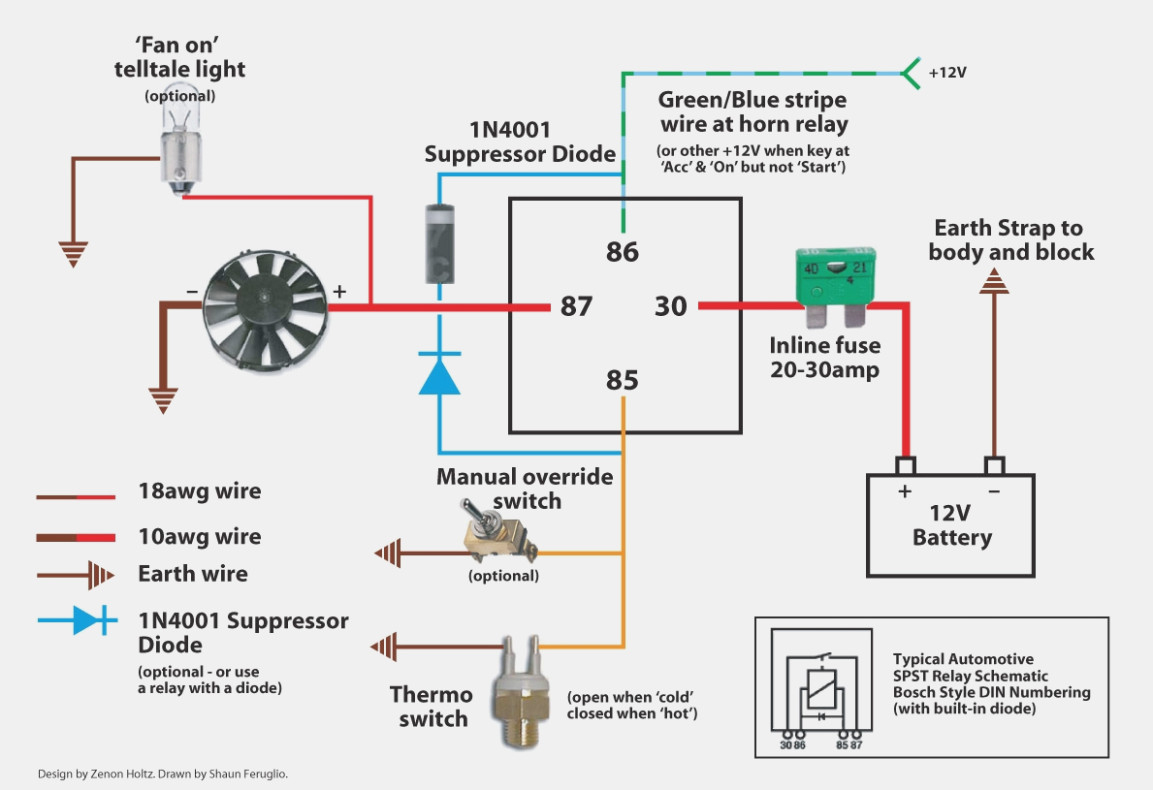 Electric Fans Wiring Diagram