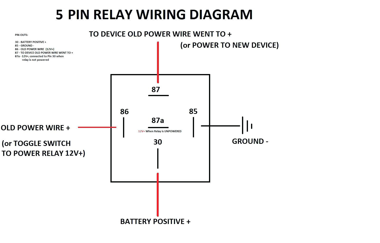 Spdt Relay Wiring Diagram - Wiring Diagrams Click - 12 Volt Relay Wiring Diagram