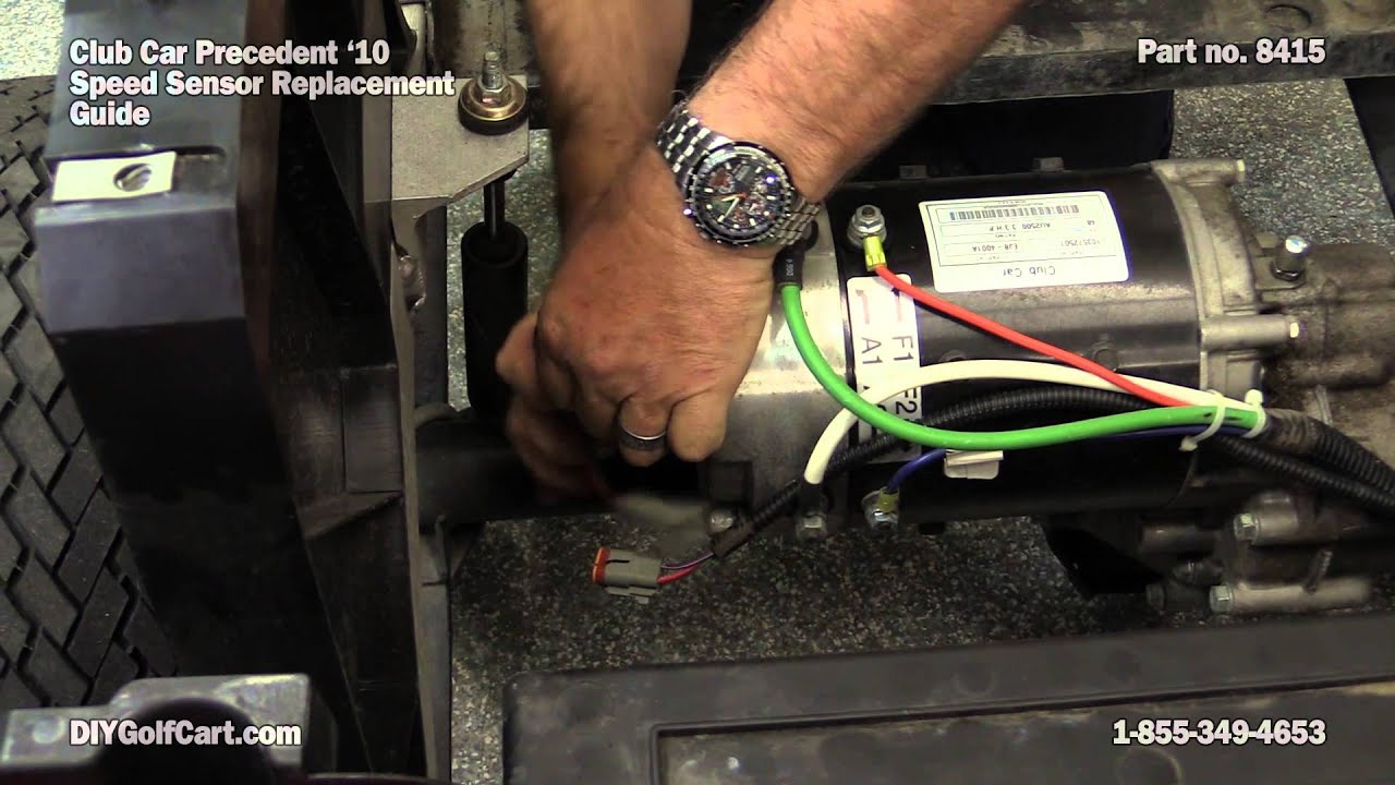 Speed Sensor For Club Car Motor | How To Replace On Golf Cart - Youtube - 48 Volt Golf Cart Wiring Diagram