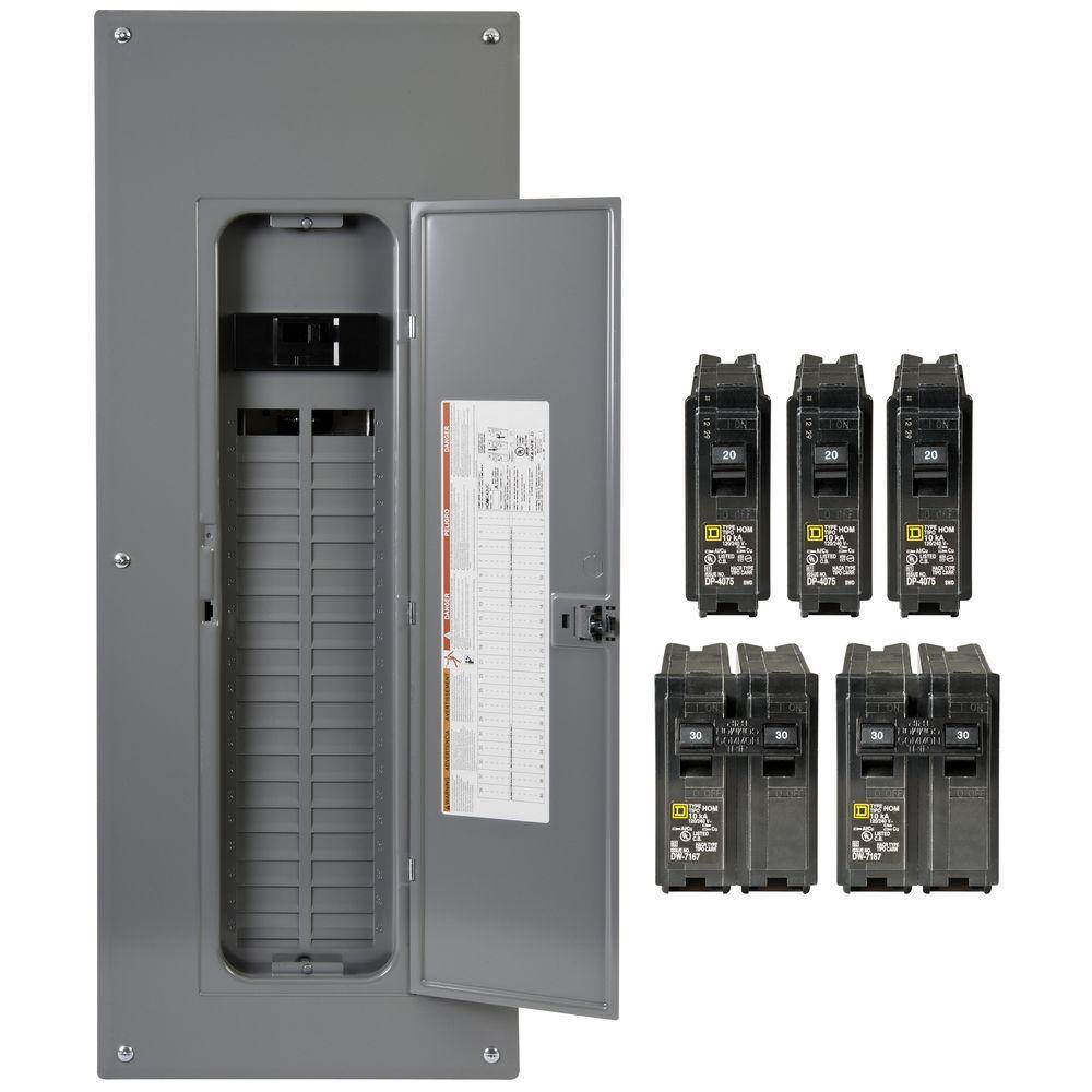 Square D Homeline 200 Amp 40-Space 80-Circuit Indoor Main Breaker - Square D Breaker Box Wiring Diagram