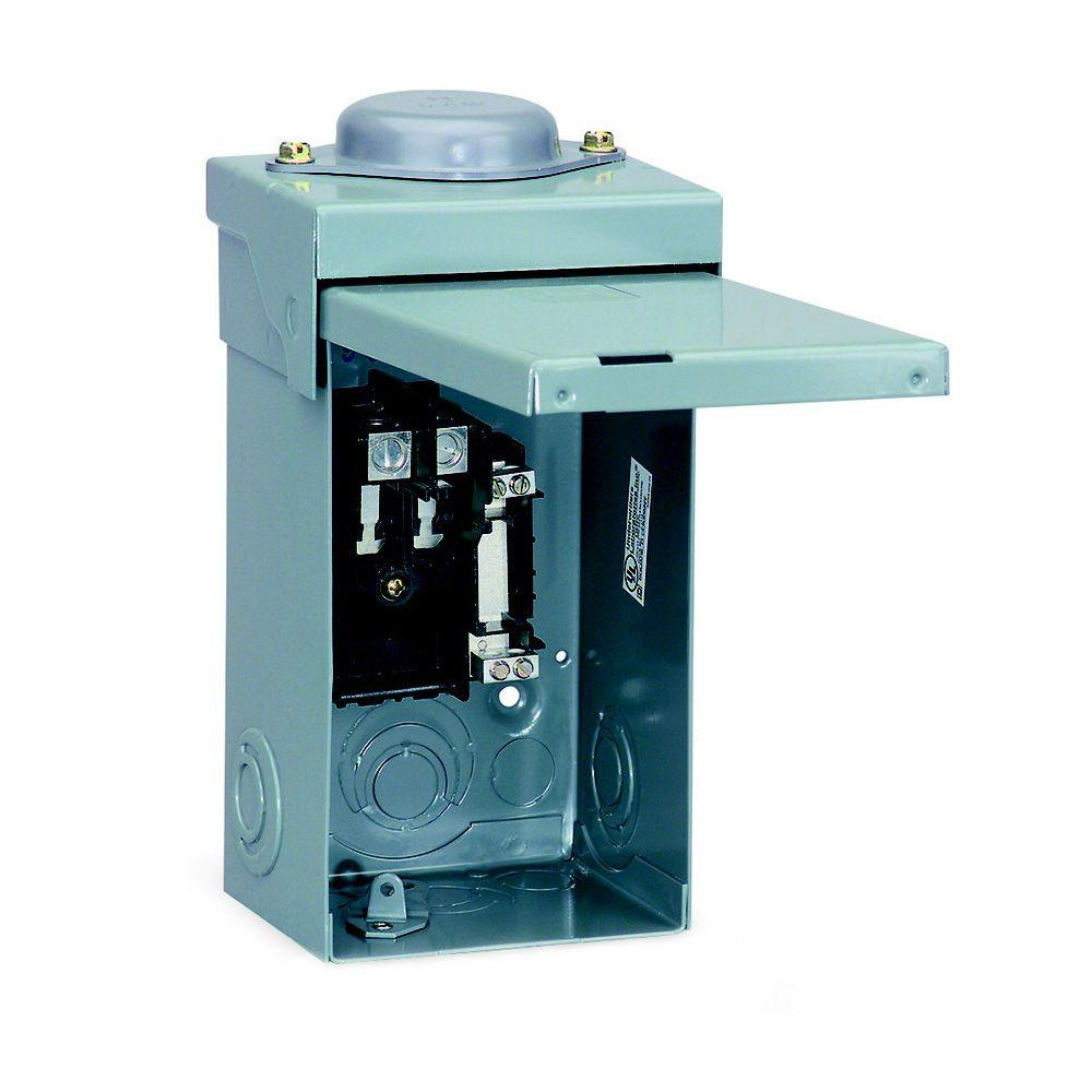 Square D Qo 40 Amp 2-Space 2-Circuit Outdoor Main Lug Load Center - Square D Load Center Wiring Diagram