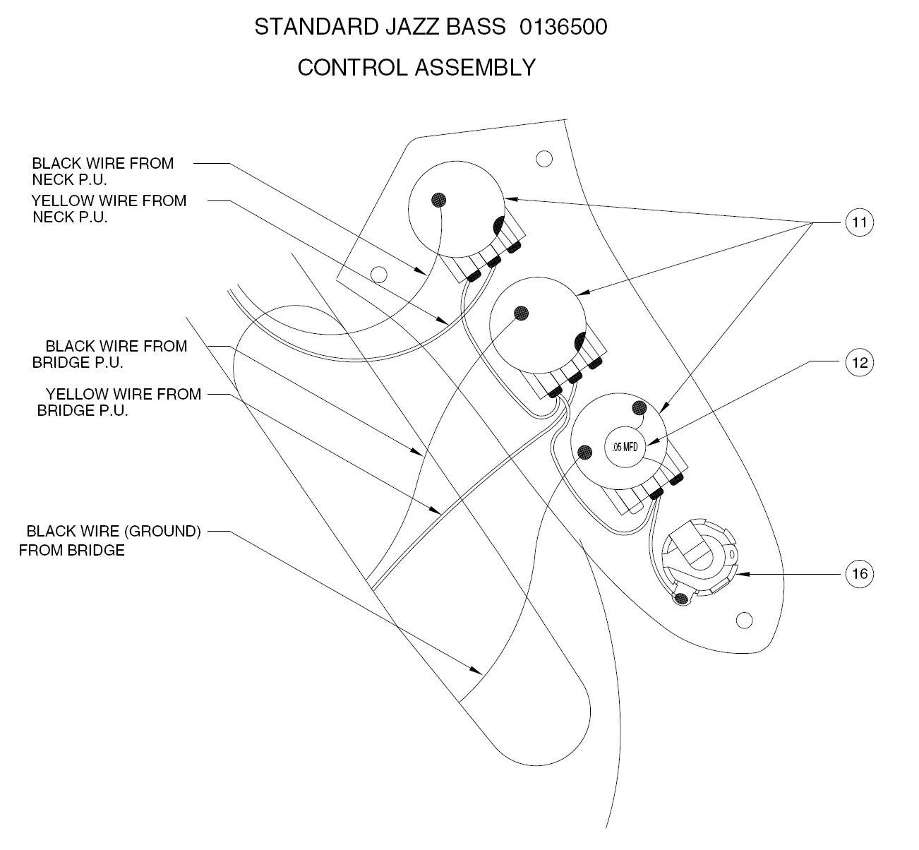 Standard P Bass Wiring Diagram | Wiring Diagram - Fender Jazz Bass Wiring Diagram