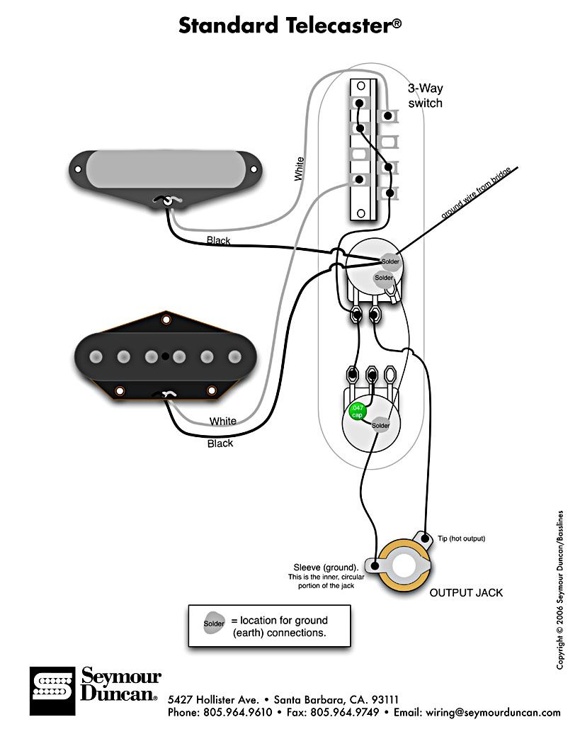 Standard Tele Wiring Diagram | Telecaster Build | Guitar, Fender - Telecaster Wiring Diagram 3 Way