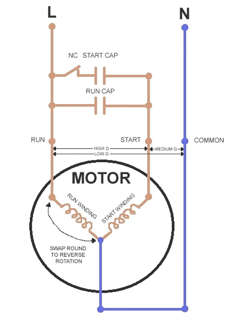 Starter Capacitor Wiring - All Wiring Diagram Data - Ac Dual Capacitor Wiring Diagram
