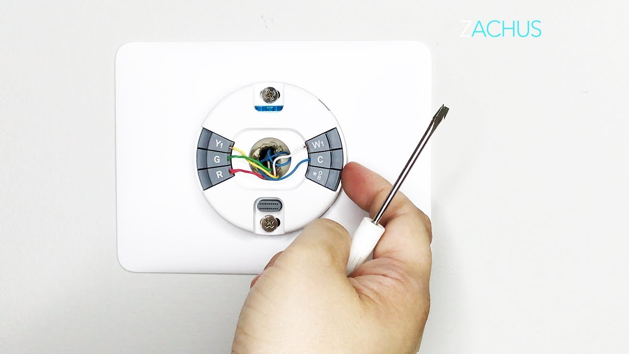 Stepstep Install Of The New Nest Thermostat E - Youtube - Wiring Diagram For Nest Thermostat