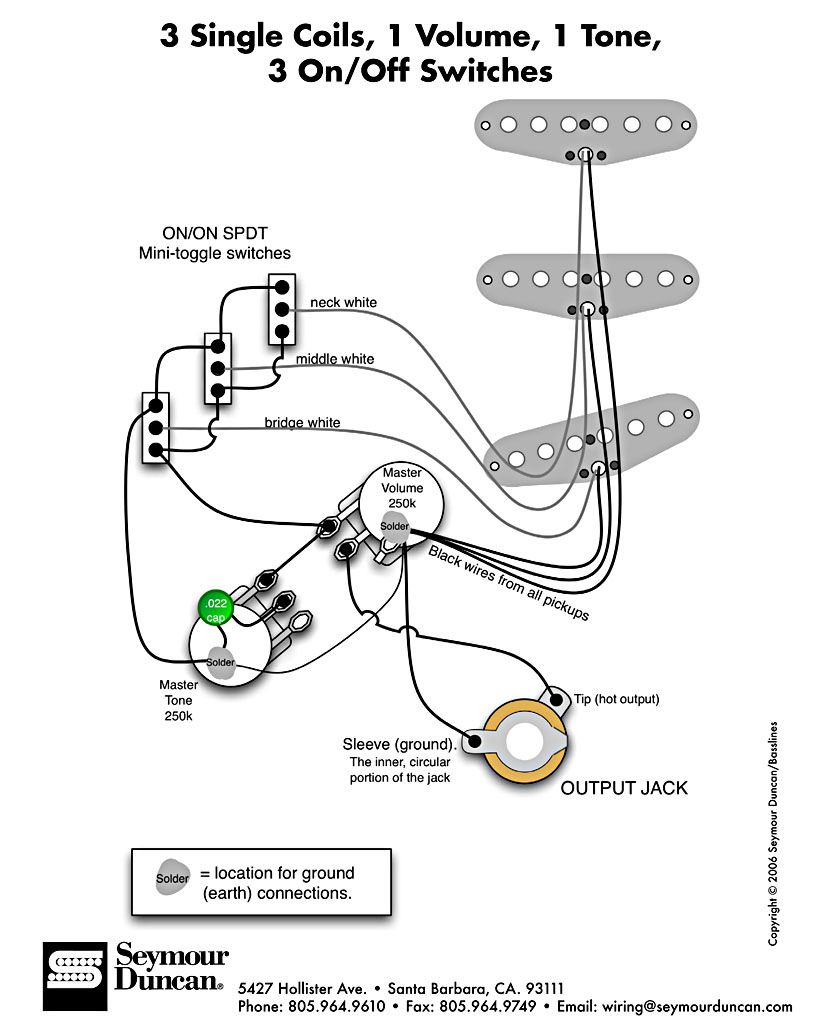 Strat 3 Slide Switch Wiring Diagram | Project 24 | Pinterest - Coil Wiring Diagram