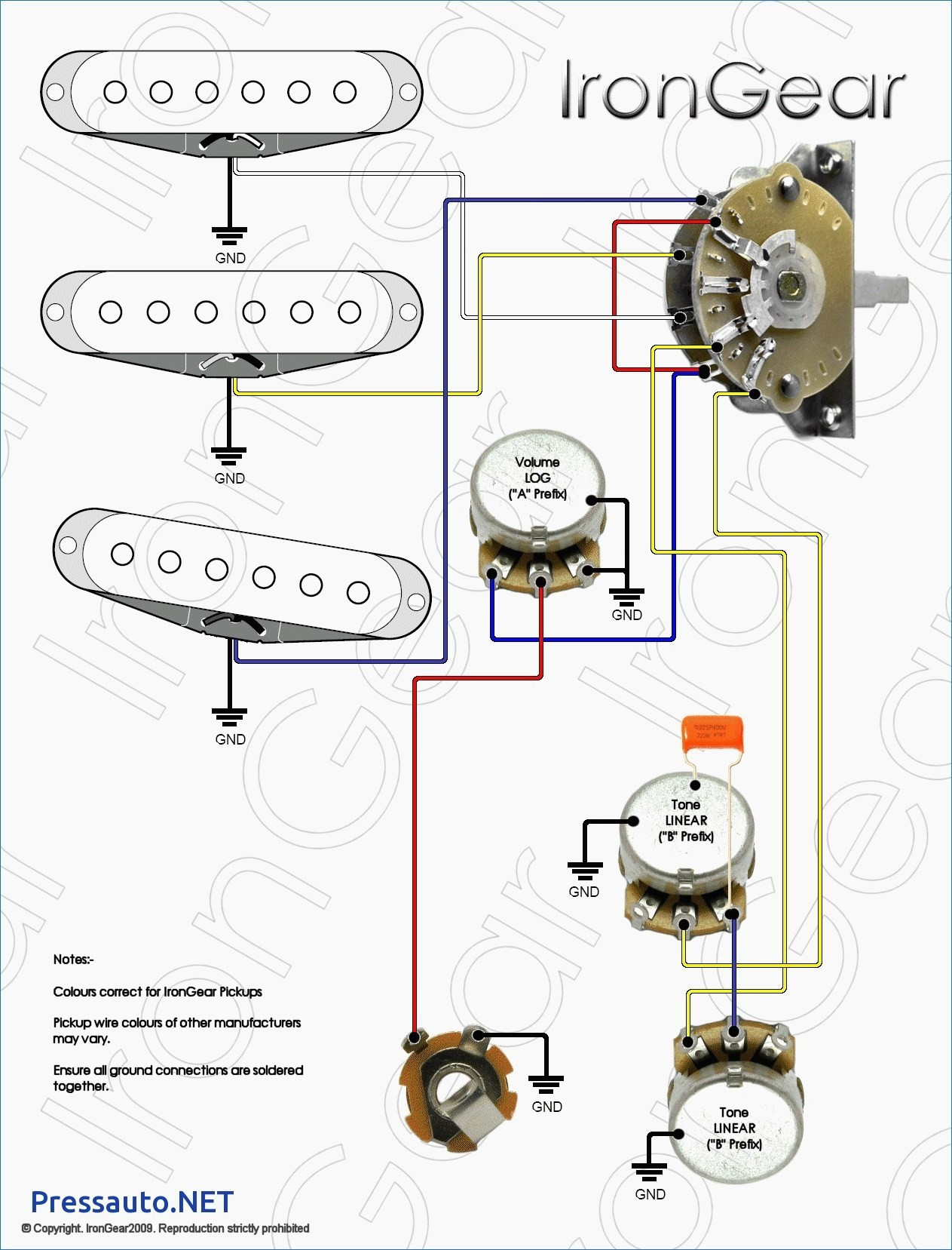 Stratocaster Wiring Diagram 3 Way Switch Simplified Shapes Strat - Strat Wiring Diagram