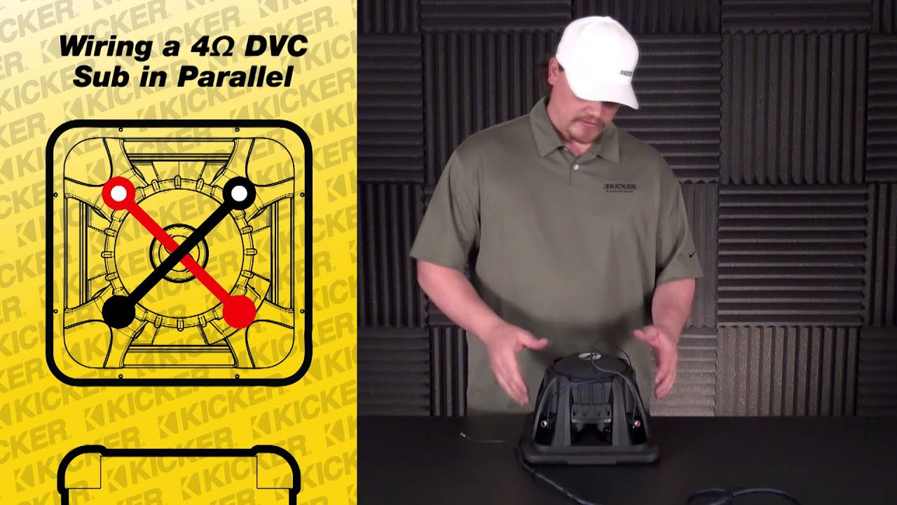 Subwoofer Wiring: One 4 Ohm Dual Voice Coil Sub In Parallel - Youtube - Dual Voice Coil Wiring Diagram