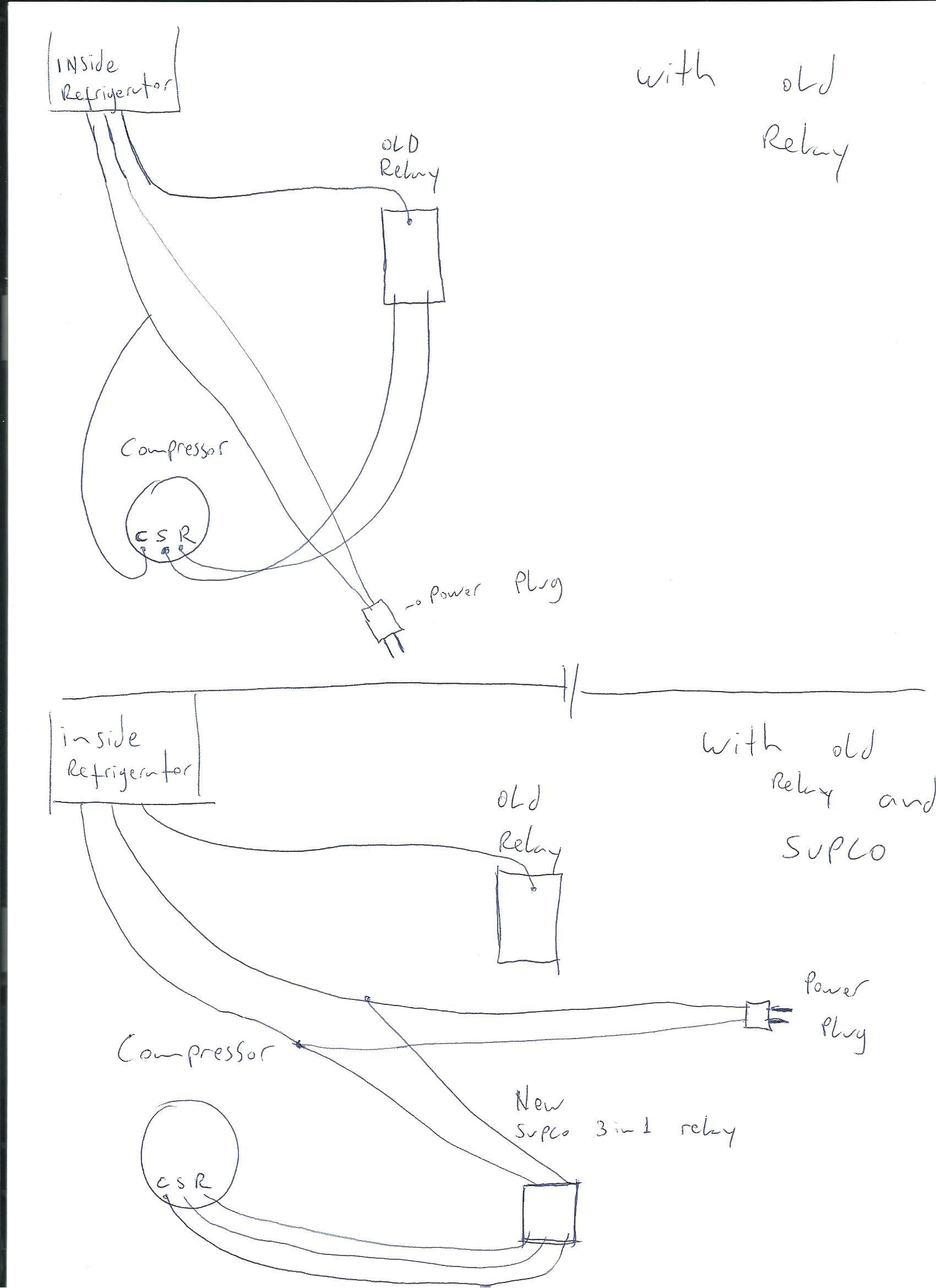 Supco Relay Wire Diagrams | Manual E-Books - Supco 3 In 1 Wiring Diagram