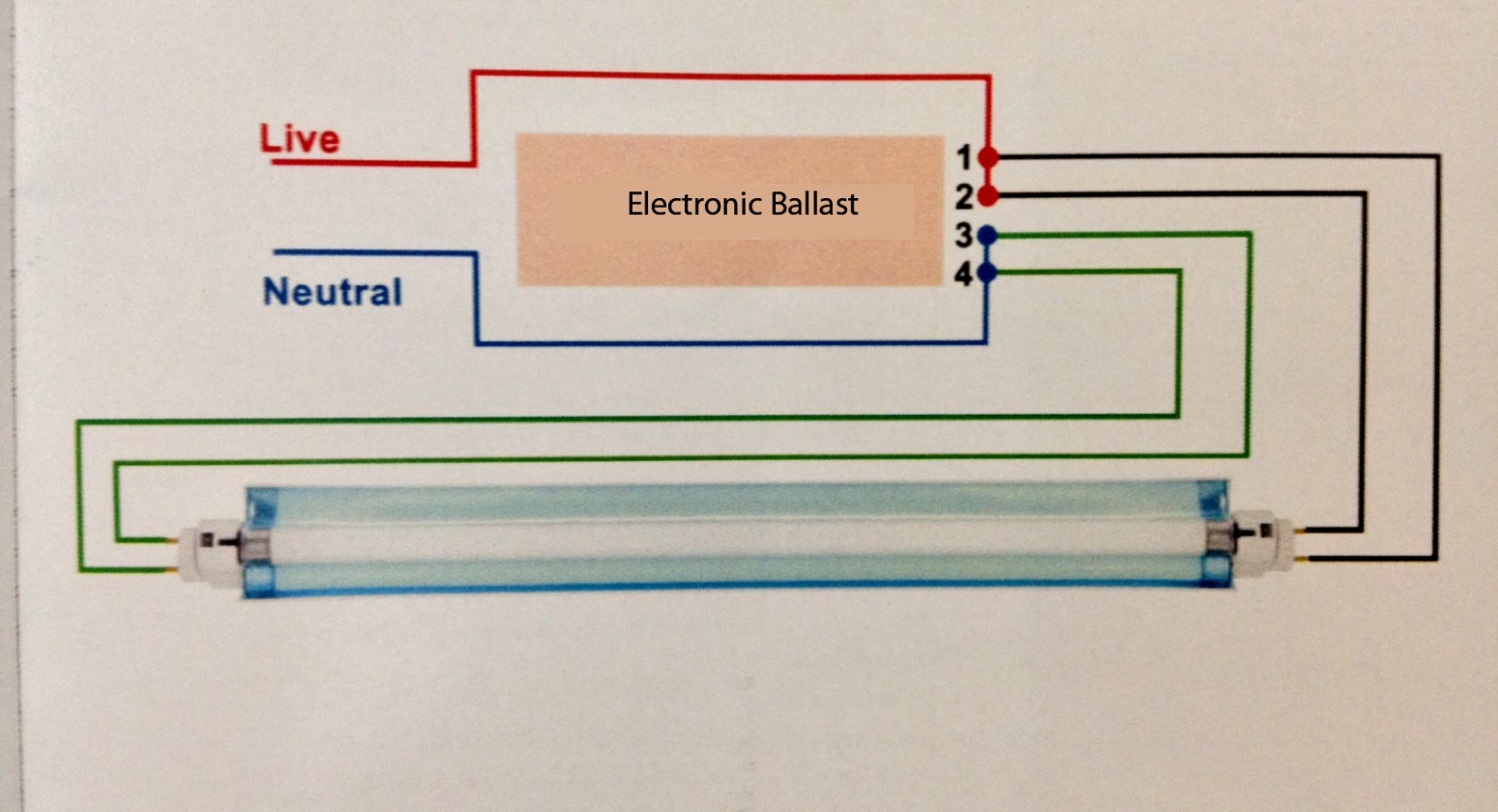 T8 Fluorescent Light Wire Diagram | Manual E-Books - Fluorescent Ballast Wiring Diagram