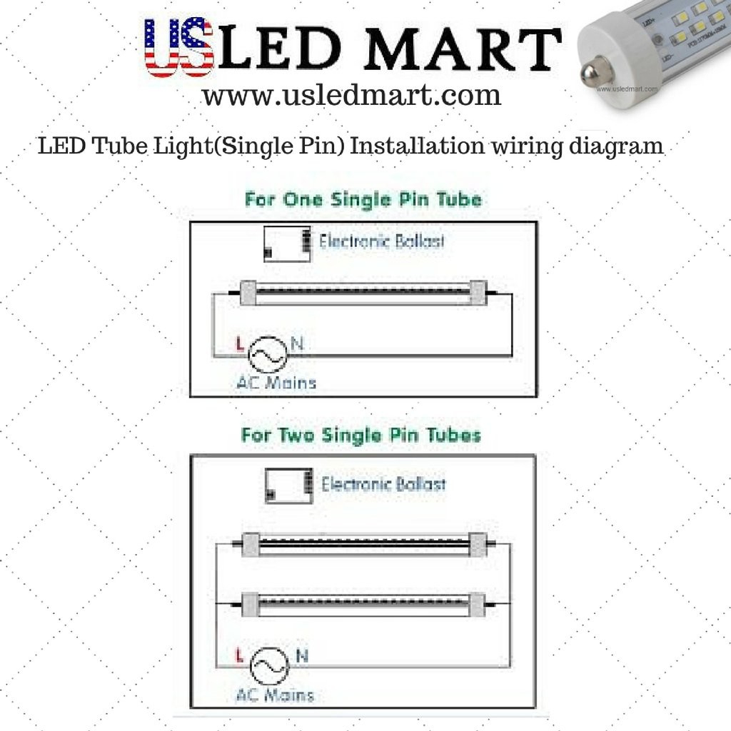 T8 Led Tube Wiring Diagram Convert Fluorescent To Luxury Within - T8 Led Tube Wiring Diagram