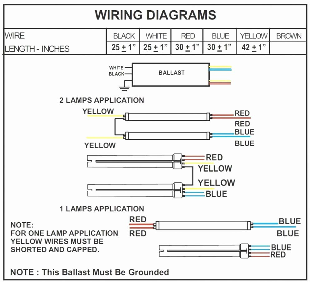 Convert Fluorescent To Led Wiring Diagram